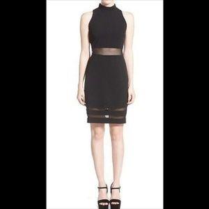 Glamorous Black Tank Dress w/ Mesh Panel Cutouts